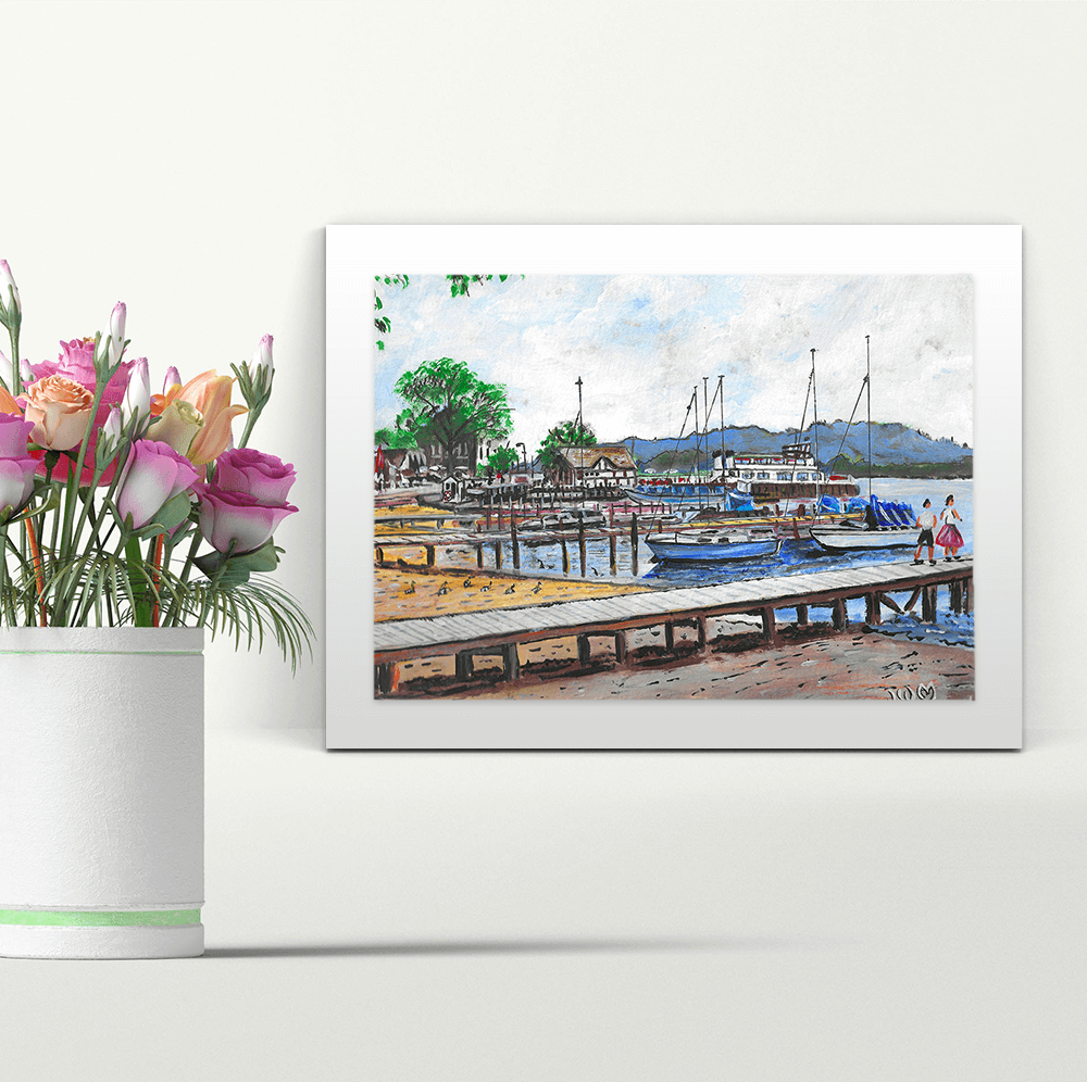Bowness on Windermere - A4 Print - Mounted