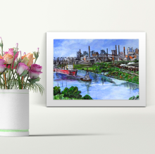 Manchester Ship Canal - A4 Print - Mounted