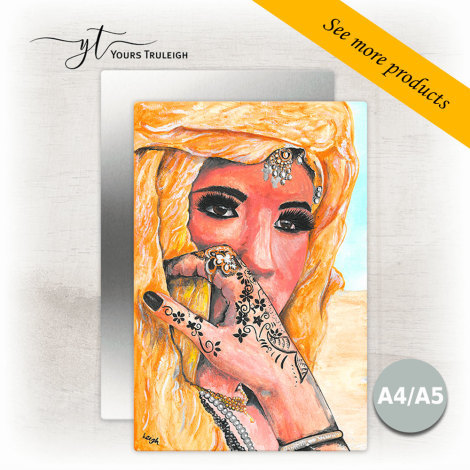 Amazigh Girl - Gold - Large Range of Giftware available.