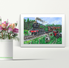 The Flying Scotsman - A4 Print - Mounted