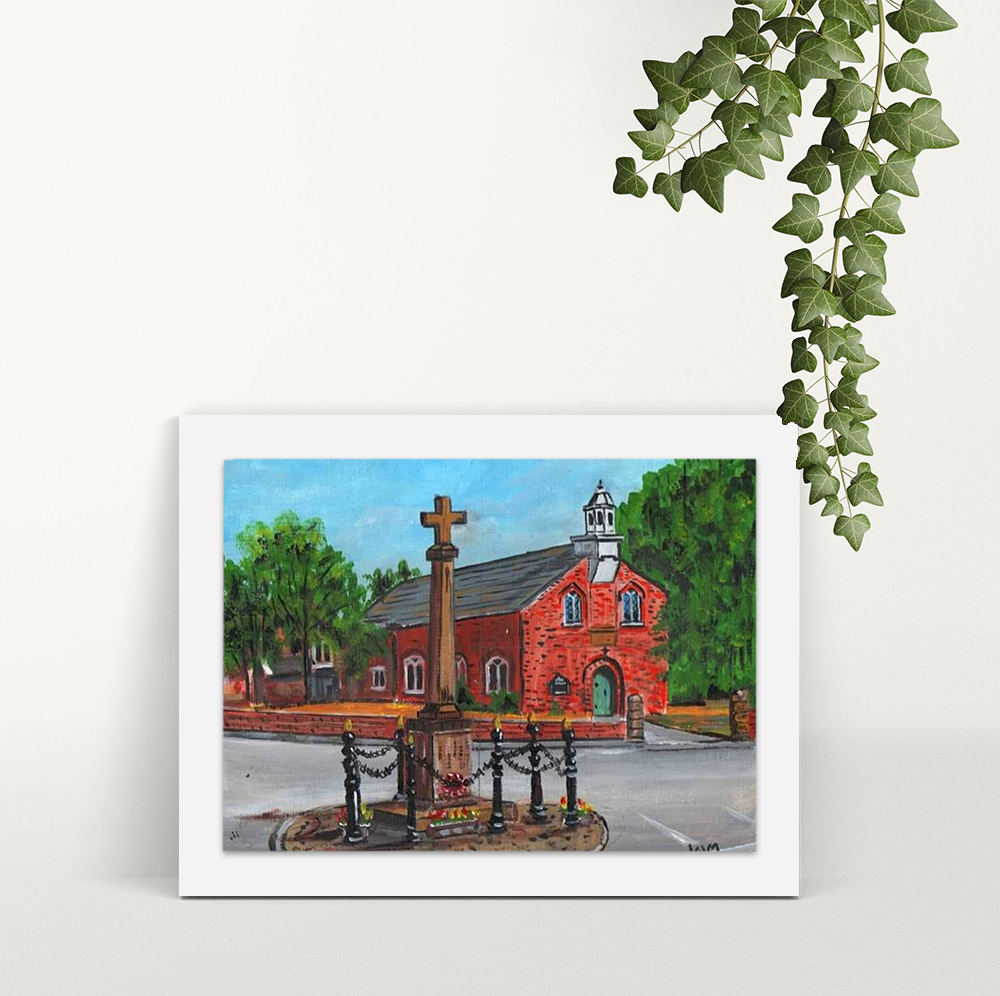 Hollins Green Momorial - A4 Print - Mounted