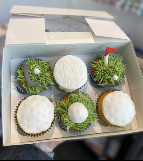 Fathers Day Golf themed cupcakes