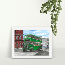 Salford Bus - A4 Print - Mounted