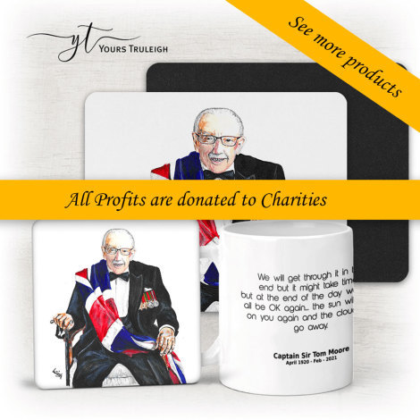 Captain Sir Tom Moore Large Range of Giftware Available.
