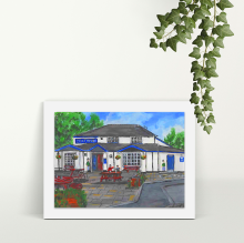 The Boathouse - A4 Print - Mounted