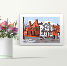 The Railway Irlam - A4 Print - Mounted