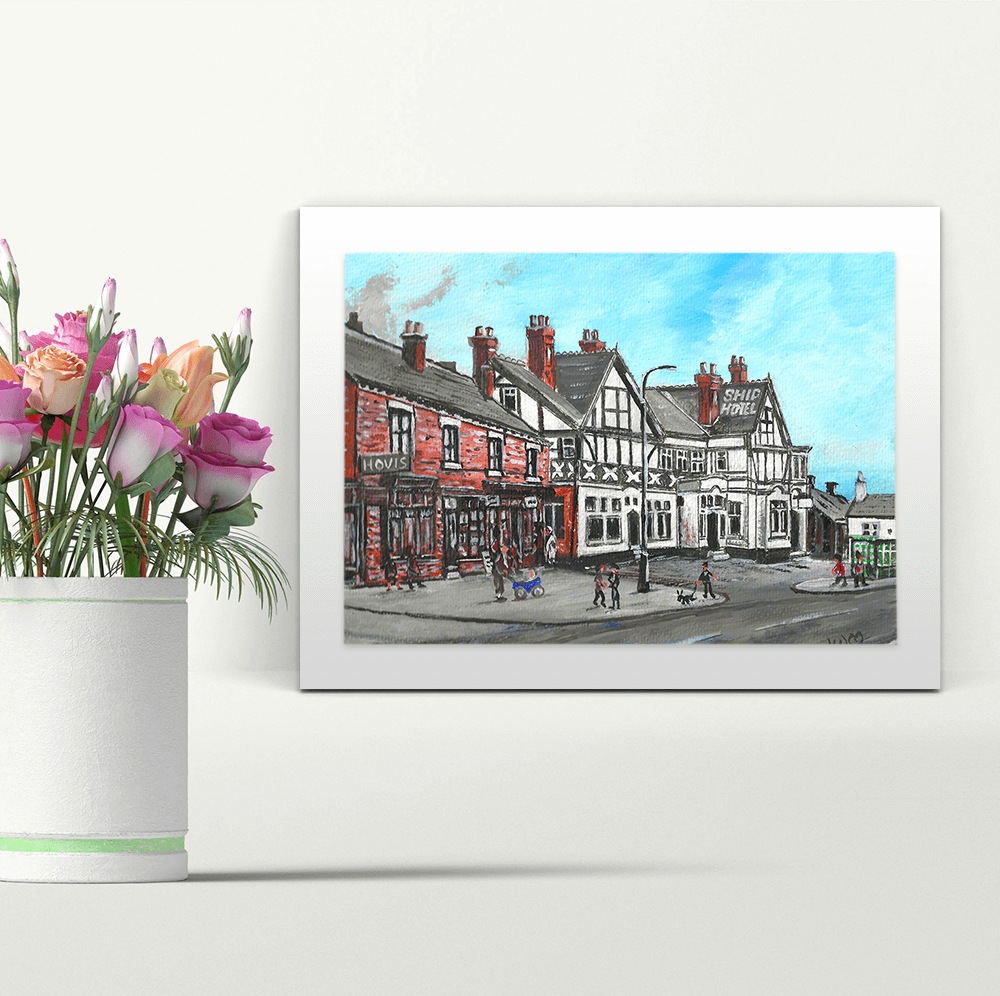 The Ship Hotel - A4 Print - Mounted