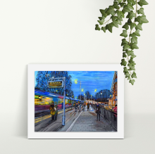 Rush Hour at Irlam - A4 Print - Mounted