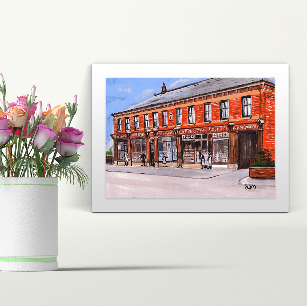 The Co-Operative Irlam - A4 Print - Mounted