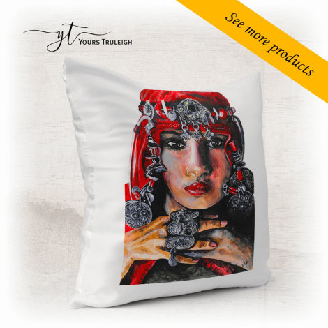 Amazigh Girl - Red - Large Range of Giftware available.