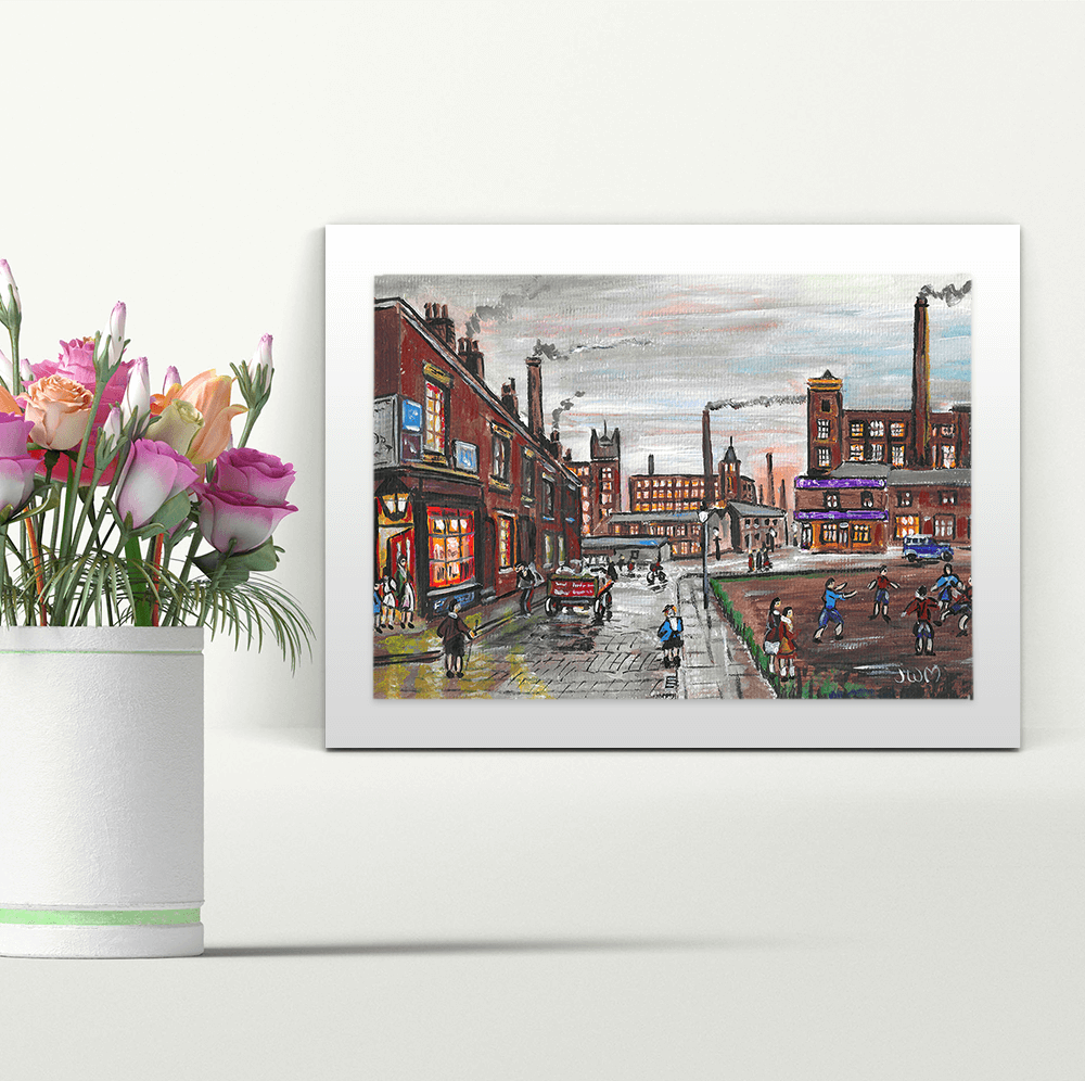 Industrial Manchester - A4 Print - Mounted