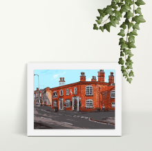 The White Horse Irlam - A4 Print - Mounted