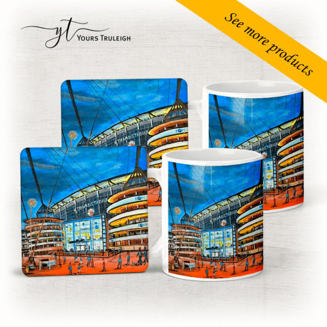 Etihad Stadium Side View - Large Range of Giftware available.