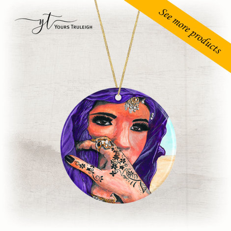 Amazigh Girl - Purple - Large Range of Giftware available.