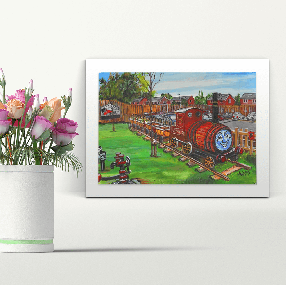 James at the Station - A4 Print - Mounted