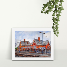 The Station Irlam - A4 Print - Mounted